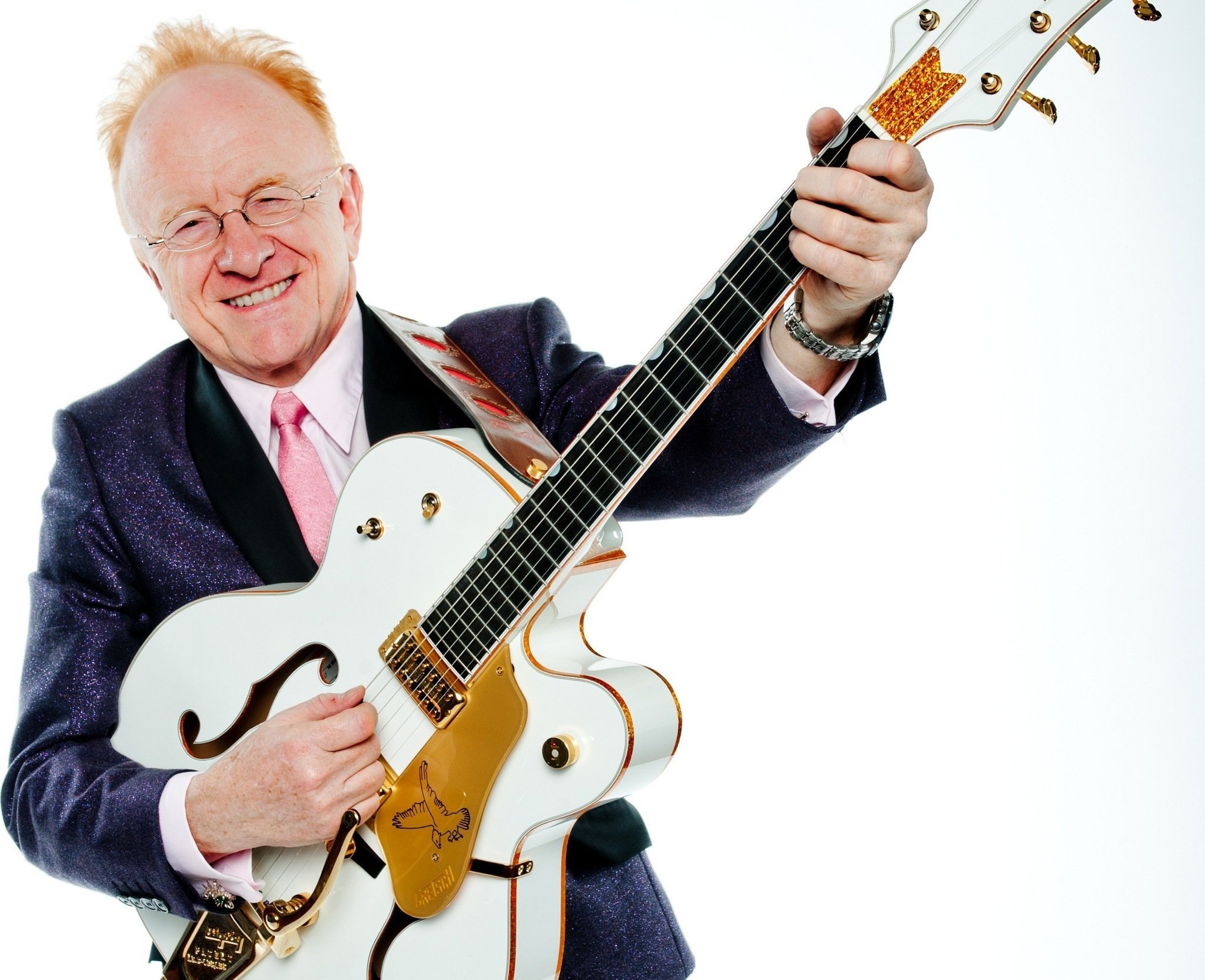 Peter Asher White Guitar